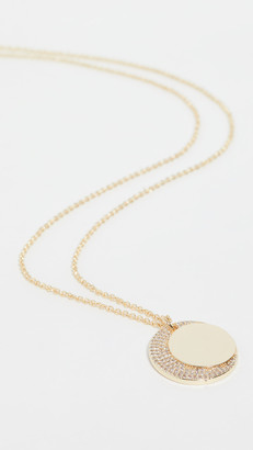 Jules Smith Designs Moon Crystal Charm Necklace