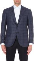 Corneliani Tailored-fit windowpane checked cashmere and silk-blend blazer