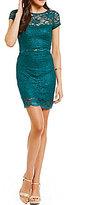 Xtraordinary Metallic Lace Two-Piece Dress
