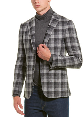 Ermenegildo Zegna Checked Wool-Blend Jacket