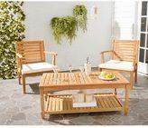 Safavieh Outdoor Living Oakley Brown Acacia Wood Coffee Table