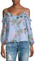Parker Women's Floral Cold-Shoulder Top