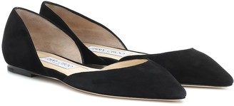 Jimmy Choo Esther suede ballet flats