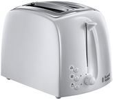 Russell Hobbs Textures 2-Slice White Toaster 21640