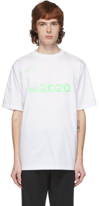 Xander Zhou White and Green 2020 T-Shirt