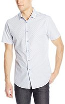 Vince Camuto Men's Short Sleeve Spread Collar Shirt