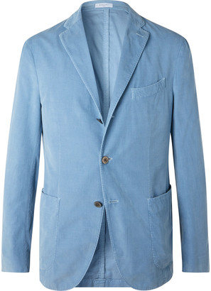 Boglioli Light-Blue K-Jacket Slim-Fit Unstructured Cotton-Corduroy Suit Jacket