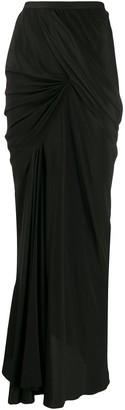 Rick Owens Seb draped maxi skirt
