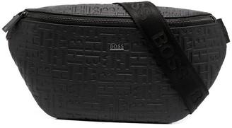 HUGO BOSS Embossed Monogram Belt Bag