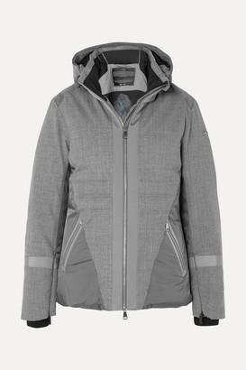 Kjus Sella Hooded Paneled Wool-blend Down Ski Jacket - Gray