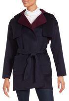 Lafayette 148 New York Tie-Waist Wool Blend Coat