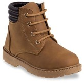 Rugged Bear Lace Up No-Tie Casual Boot (Big Boys & Little Boys)