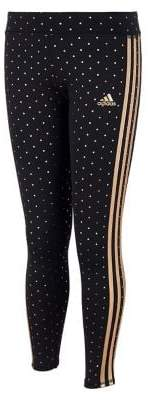 adidas Little Girl's Climalite Dotted Print Leggings