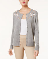Karen Scott Embroidered Cardigan, Created for Macy's