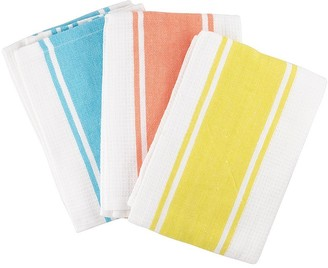Scullery Pura Tea Towel Set of 3 Bright Stripes