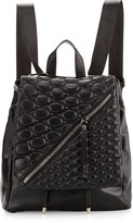 Cynthia Vincent Irene Quilted-Flap Backpack, Black Matte