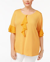 NY Collection Plus Size Ruffled Top