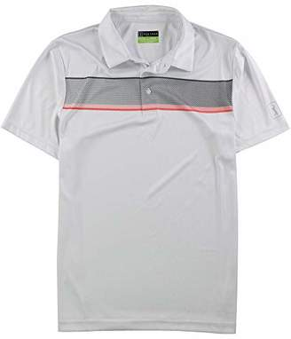 PGA TOUR Men's Short Sleeve Printed Polo Shirt