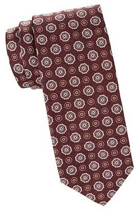 Isaia Medallion Wool & Silk Blend Tie
