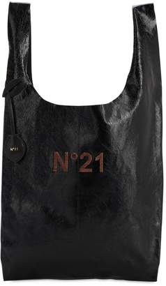 N°21 Logo Patched Leather Tote Bag