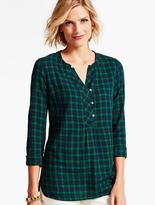 Talbots Blackwatch Plaid Popover
