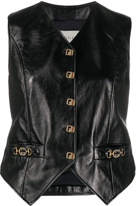 Gucci leather Horsebit gilet