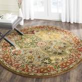 Safavieh Heritage Collection HG111A Handmade Multicolored Wool Round Area Rug, 3 feet 6 inches in Diameter ( Diameter)