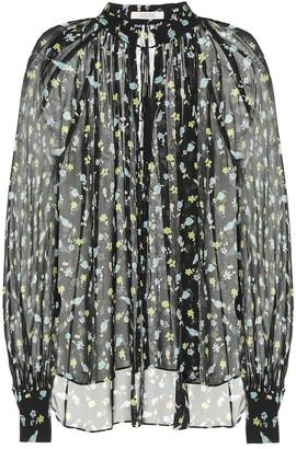 Schumacher Dorothee Nightfall Meadow silk blouse