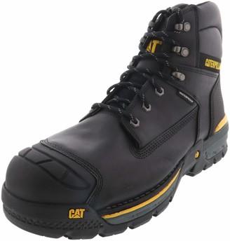 """Caterpillar Excavator LT 6"""" Waterproof Composite Toe Work Boot Black 14"""