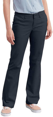 Dickies Women's Slim Fit Boot Cut Stretch Twill Pants