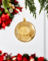 """Jim Marvin Gold & Glitter Collection Beaded Ball Ornament, 4"""""""