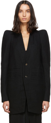 Rick Owens Black Zionic Tailored Coat