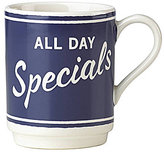 Kate Spade All in Good Taste Order's Up All Day Specials Mug