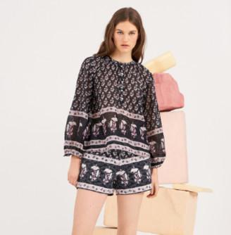 Antik Batik Mandee Tee Blouse - Xs/36 | cotton | black - Black/Black