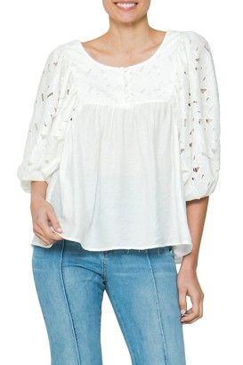 Flying Tomato Lace 3/4 Sleeve Top