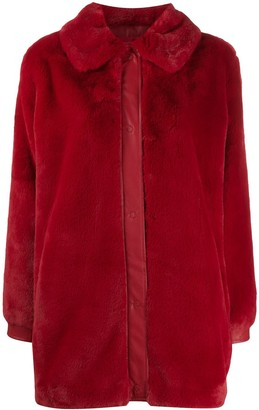 Liu Jo Faux-Fur Single Breasted Coat