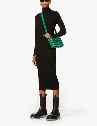 Bottega Veneta Turtleneck ribbed wool maxi dress