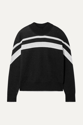 ATM Anthony Thomas Melillo Striped Cotton-blend Sweater - Black