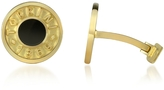 Torrini Coin 1369 - Onyx and 18K Yellow Gold Round Cufflinks