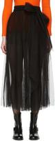 MSGM Black Belted Tulle Skirt