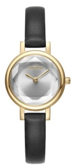 RumbaTime Venice Black Leather Women's Watch Gold
