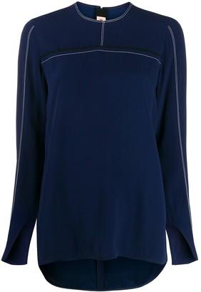 Marni contrast stitching blouse