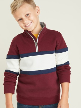 Old Navy Color-Blocked 1/4-Zip Mock-Neck Pullover for Boys