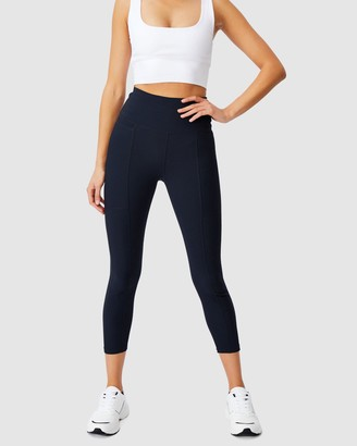 Cotton On Body Active - Women's Blue Tights - Rib Pocket 7-8 Tights - Size XXS at The Iconic