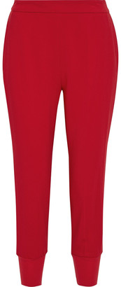 Stella McCartney Julia Cropped Stretch-cady Tapered Pants
