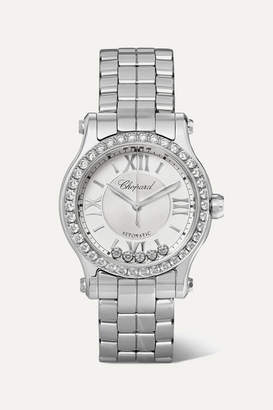 Chopard Happy Sport Automatic 30mm Stainless Steel And Diamond Watch - Silver