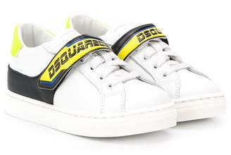 DSQUARED2 panelled logo print sneakers