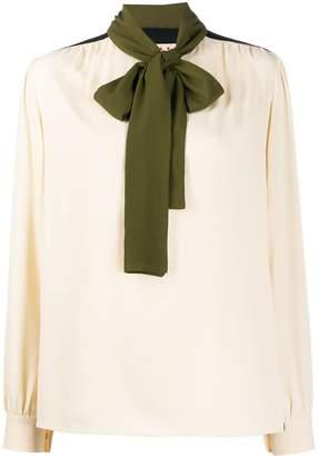 Marni contrast details blouse