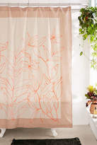 Urban Outfitters Lulu Sketched Floral Shower Curtain