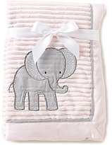 Starting Out Baby Girls Elephant-Applique Blanket
